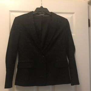 Express Black blazer with lacy look design